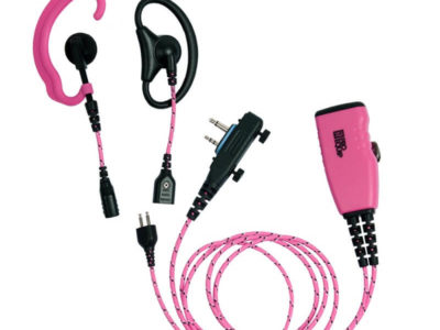 roze headset mic ptt voor icom screw