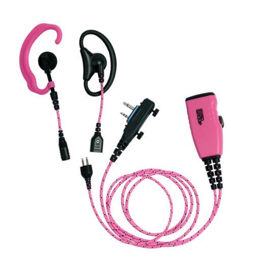 roze headset mic ptt voor icom screw
