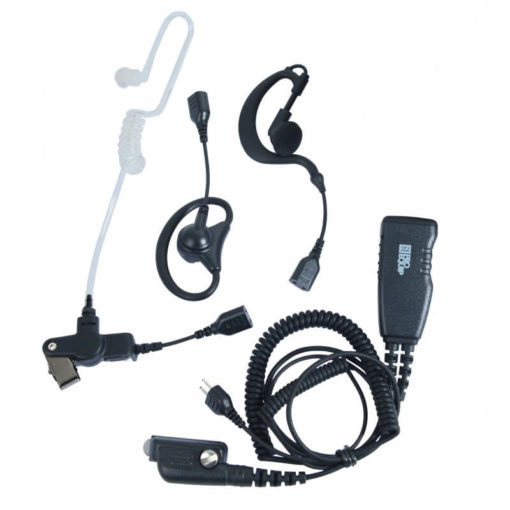 set oortjes met microfoon en ptt voor F3262/F4262