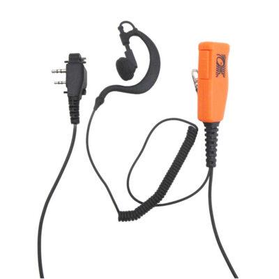 oortje met palm mic/ptt icom LS