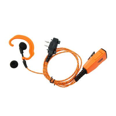 C-oortje met PTT en Microfoon Icom portofoon oranje