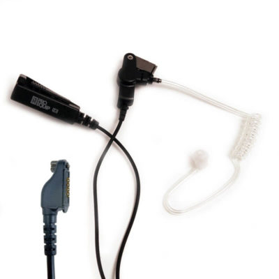 Oortje met luchtslang en noise cancelling mic/ptt SC