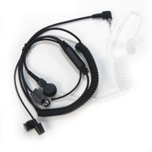 surveillance oortje met luchtslang 2,5mm plug