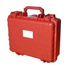 Portofoon koffer rood medium