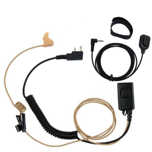 headset met vinger ptt L-screw icom