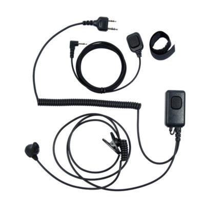 headset met vinger ptt Icom streight connector