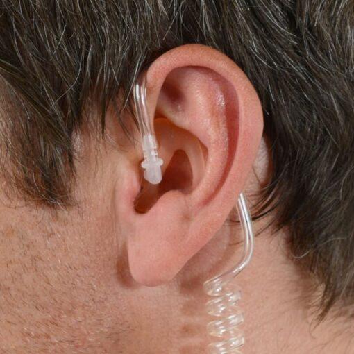Siliconen oorplug links medium